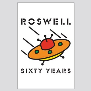 The 1947 Roswell UFO incident Large Poster