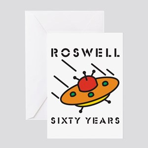 The 1947 Roswell UFO incident Greeting Card