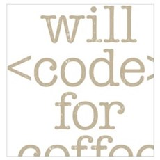 Code For Coffee Poster