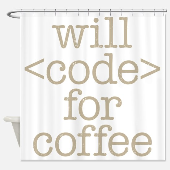 Code For Coffee Shower Curtain