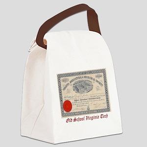 Old School Virginia Tech Canvas Lunch Bag