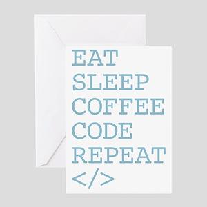 Coffee Code Repeat Greeting Card