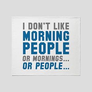 I Don't Like Morning People Stadium Blanket