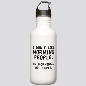 I Don't Like Morning People Stainless Water Bottle
