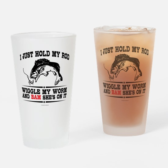 Hold My Rod Drinking Glass