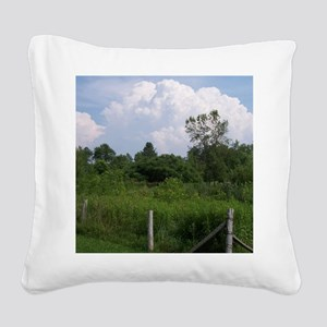 Country Field Scenery Square Canvas Pillow