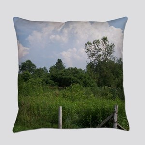 Country Field Scenery Everyday Pillow
