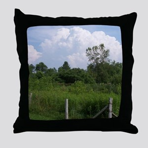 Country Field Scenery Throw Pillow