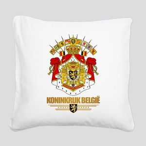 Belgium COA Square Canvas Pillow
