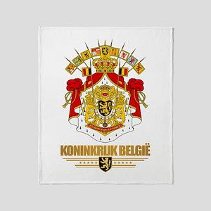 Belgium COA Throw Blanket
