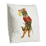 Puss in Boots Burlap Throw Pillow