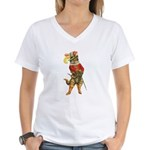 Puss in Boots Women's V-Neck T-Shirt