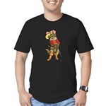 Puss in Boots Men's Fitted T-Shirt (dark)
