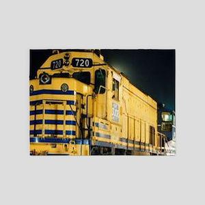 Train Engine 5'x7'Area Rug