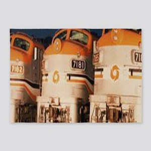 Train Engines 5'x7'Area Rug