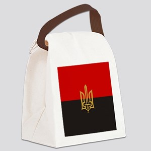Stylized Tryzub And Red-Black Fla Canvas Lunch Bag