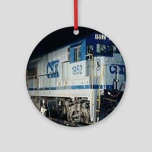Train Engine Ornament (Round)