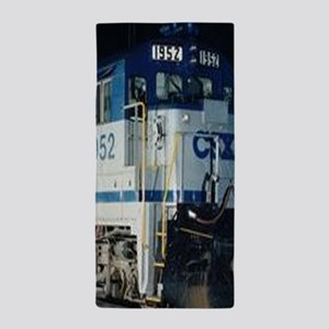 Train Engine Beach Towel