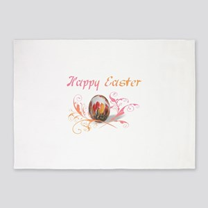 Happy Easter Artistic 5'x7'Area Rug