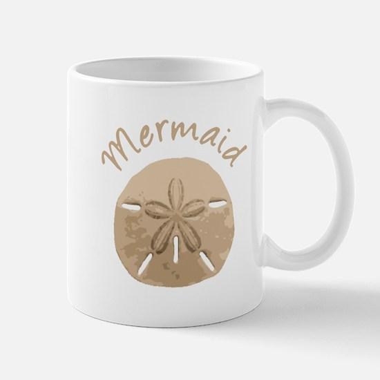 Fun Summer Holiday Mermaid Sand Dollar Mugs