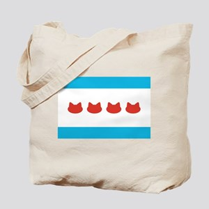 Chicago Cat Lovers Flag Tote Bag