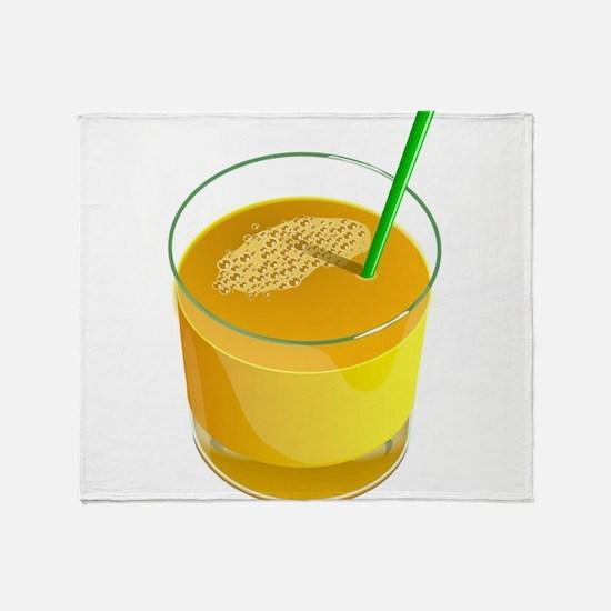 Orange Juice Throw Blanket