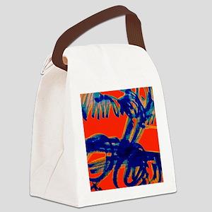 Blue Scribbles Canvas Lunch Bag