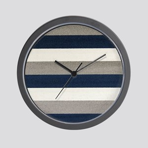 Fuzzy Stripes Wall Clock