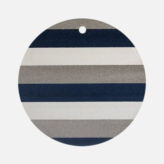 Fuzzy Stripes Ornament (Round)