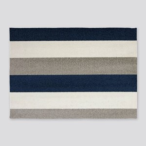 Fuzzy Stripes 5'x7'Area Rug