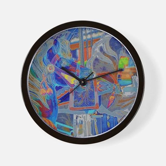 Cute Carousel Wall Clock