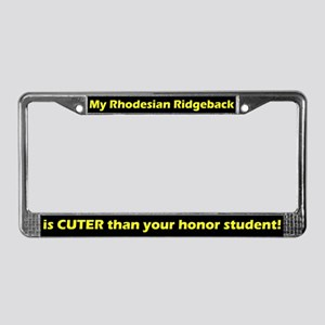 Honor Student Ridgeback License Plate Frame