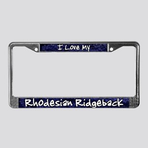 Funky Love Rhodesian Ridgeback License Plate Frame