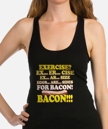 Funny: Eggs Are Sides for Bacon! Racerback Tank To