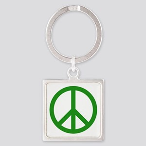 green peace Square Keychain