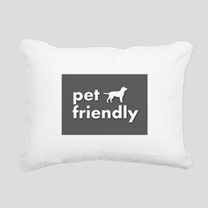 pet friendly art illustr Rectangular Canvas Pillow