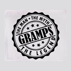 Gramps - The Man The Myth The Legend Throw Blanket