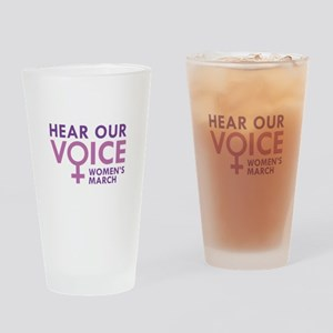 Hear Our Voice Drinking Glass
