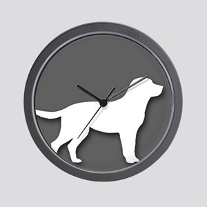 pet friendly art illustration Wall Clock