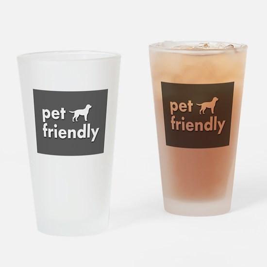 pet friendly art illustration Drinking Glass