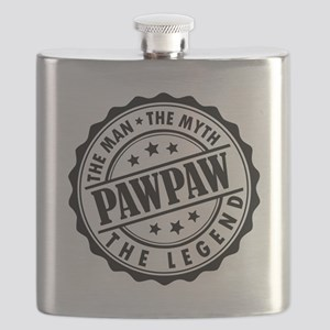 Pawpaw - The Man The Myth The Legend Flask