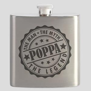 Poppa - The Man The Myth The Legend Flask