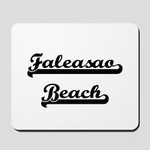 Faleasao Beach Classic Retro Design Mousepad