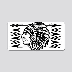 Native American Arrow Design Aluminum License Plat