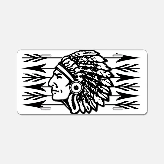 Native American Arrow Design Aluminum License Plat