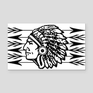 Native American Arrow Design Rectangle Car Magnet