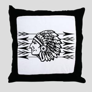Native American Arrow Design Throw Pillow