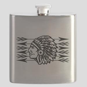 Native American Arrow Design Flask