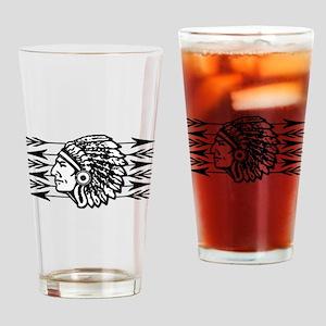 Native American Arrow Design Drinking Glass