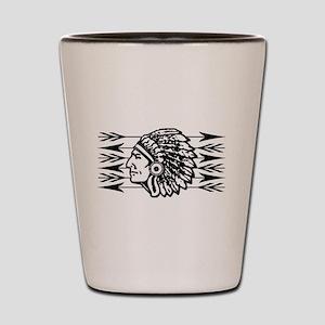 Native American Arrow Design Shot Glass